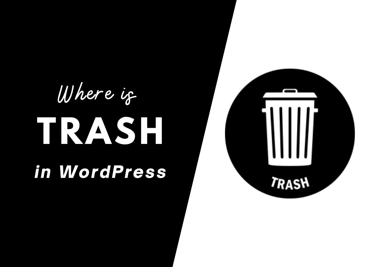 Where is Trash in WordPress